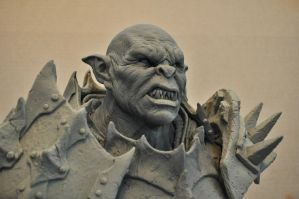 Orc Sculpt Bust 2 The Iron Hand by AntWatkins