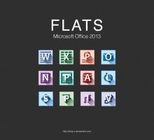FLATS Microsoft Office 2013 Icons by RKay-x