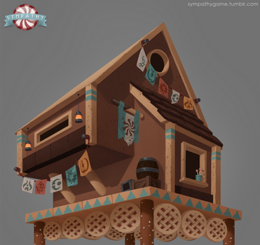Gingerbread Cabin Concept by luxandnox