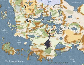 4th edition Forgotten Realms Map by Markustay