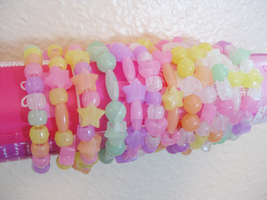 Elastic Pastel Kawaii Bracelets | for sale by Sugary-Stardust
