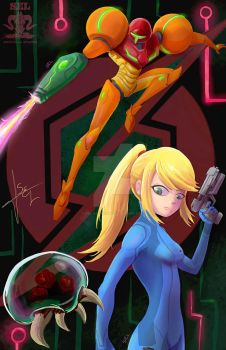 Samus Aran by SEL-artworks