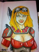 Mando Girl commission ACE by MARR-PHEOS