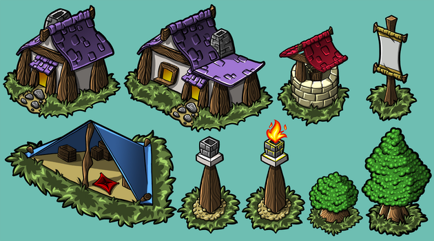Mobile Game Assets by Azurah