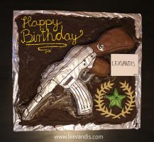 AK-47: Anniversary Cake - Call of Duty by Lexvandis