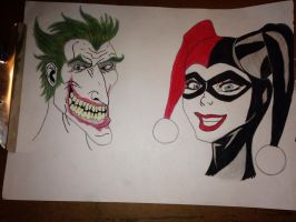 Joker and Harley  by KPRITCHETT14