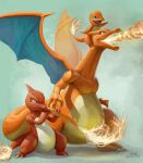 Charizard and family by mcgmark