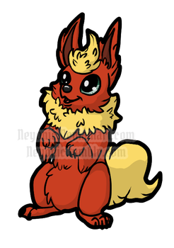 Beggin Flareon by Neyonic