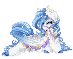 Midnight Radiance (Pegasus version) by Silent-Shadow-Wolf