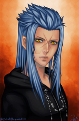 Saix (Kingdom Hearts) Coloration by Manostion