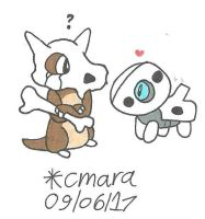 Cubone and Aron