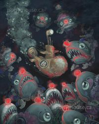 Deep-Sea Clowns by littlecrow