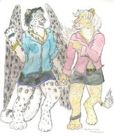 Foxy and Leilah going out by Rahball