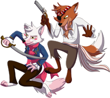 Pirate Foxes by Shadow-Dancer6