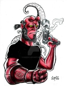 Hellboy by kake07
