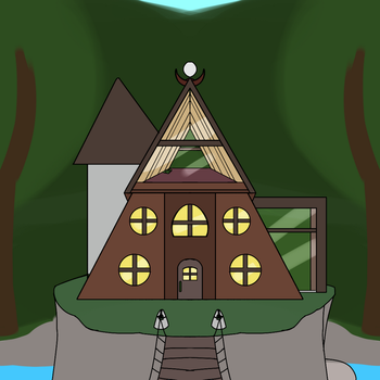 Mellea's  house by Spottedtail-Cat-Art