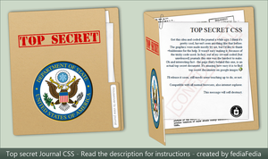 TOP SECRET journal CSS by fediaFedia