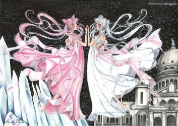 Sailormoon - Serenity and Lady Serenity by AlexaFV