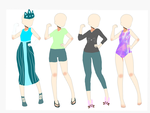 Adoptable Outfits 1: Open 4/4 by ZoeChickenFarmer