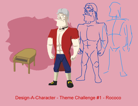 Design-A-Character - Theme Challenge #1 - Rococo by HipnikDragomir