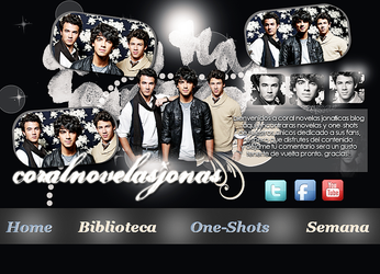 Header de la web CoralNovelasJonas by ThisIsMyWorldDesigns