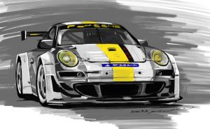 Porsche 911 GT3 RSR by darkdamage