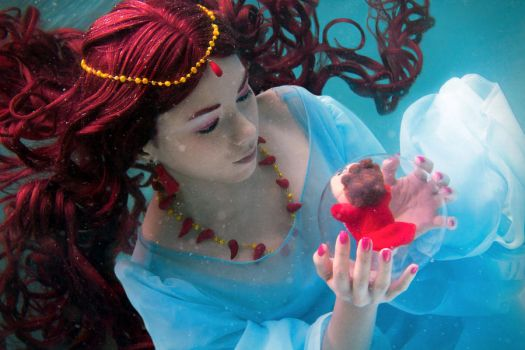 Ponyo - The Sea Goddess and her Daughter by arlo-arleh
