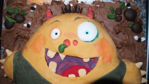 Morris The Mankiest Monster cake 3 by BevisMusson