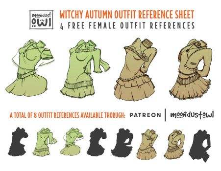 Witchy-Autumn Outfit Reference Sheet by painted-leaf