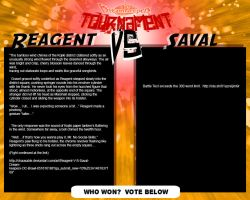 Tournament Match 24: Reagent vs Saval by Dreamkeepers