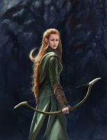 tauriel by Perseass
