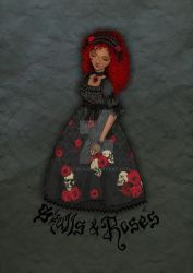 Skulls and Roses (halloween edition) by zeloco