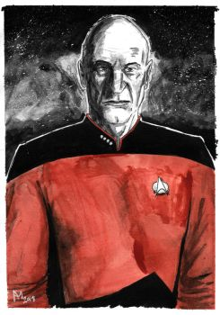 Weekly Sketches: Picard by Kmadden2004
