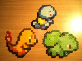 Kanto Starters by DisasterExe