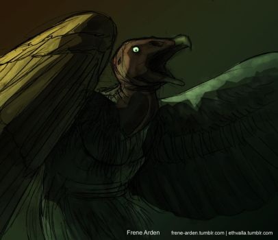 Werevulture 1 by frene