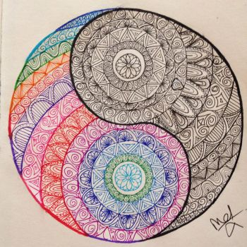 Yin Yang first doodle by MadebyMelW