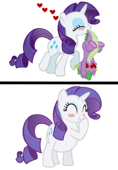 Rarity Eats Spike! by Rarity-Vore