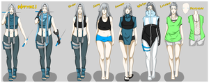 Jiji Lin: Clothing Reference Sheet by HaniHunni