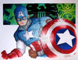 Captian America by KidNotorious
