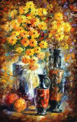 Greek Vases by Leonid Afremov by Leonidafremov