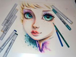 Frozen Elsa Portrait by Lighane