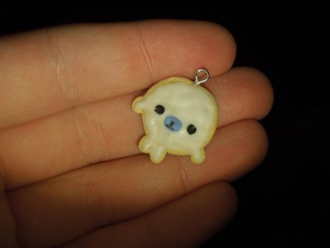 Mamegoma Cookie   Polymer Clay   PastelClayCharms by theblondeunicorn