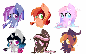[CLOSED] Dragon Ponies Adopts by CitrusSkittles