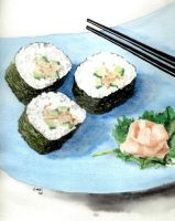 Sushi Plate 3 by theancientofdays