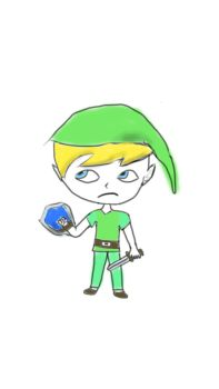 My idea of an elf (Link from Zelda the Windwaker) by PotatoTheSecond