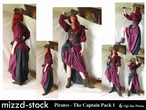 Pirates - The Captain Pack 1 by mizzd-stock