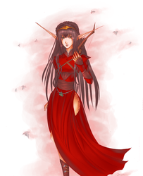 Elven Ariall by DawnWarrior