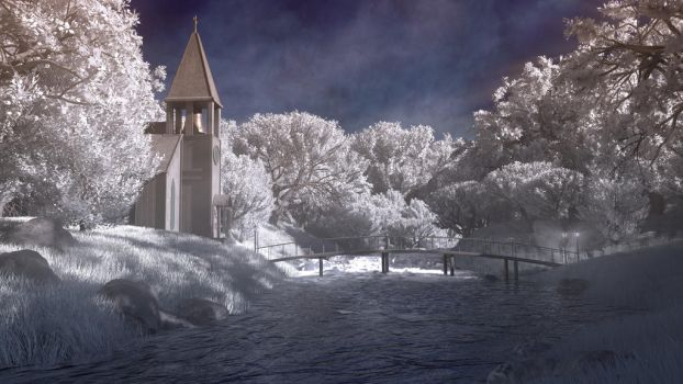 River Church ('infrared') by J-the-Ninja