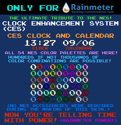 CES Clock and Calendar (For Rainmeter) by TheWolfBunny