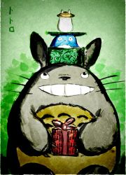 Totoro - birthday by the-figtree